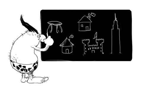 école primaire de petits promoteurs immobiliers