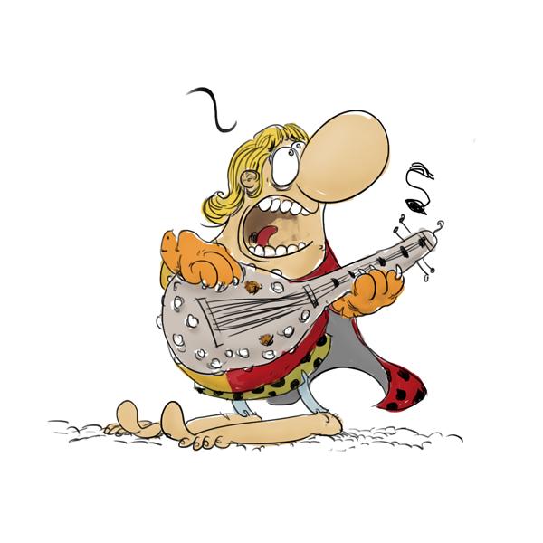 croubadour, le troubadour des temps anciens