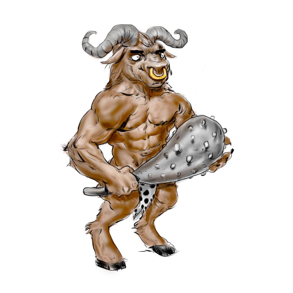 Le Minotaure en version CRO préhisto