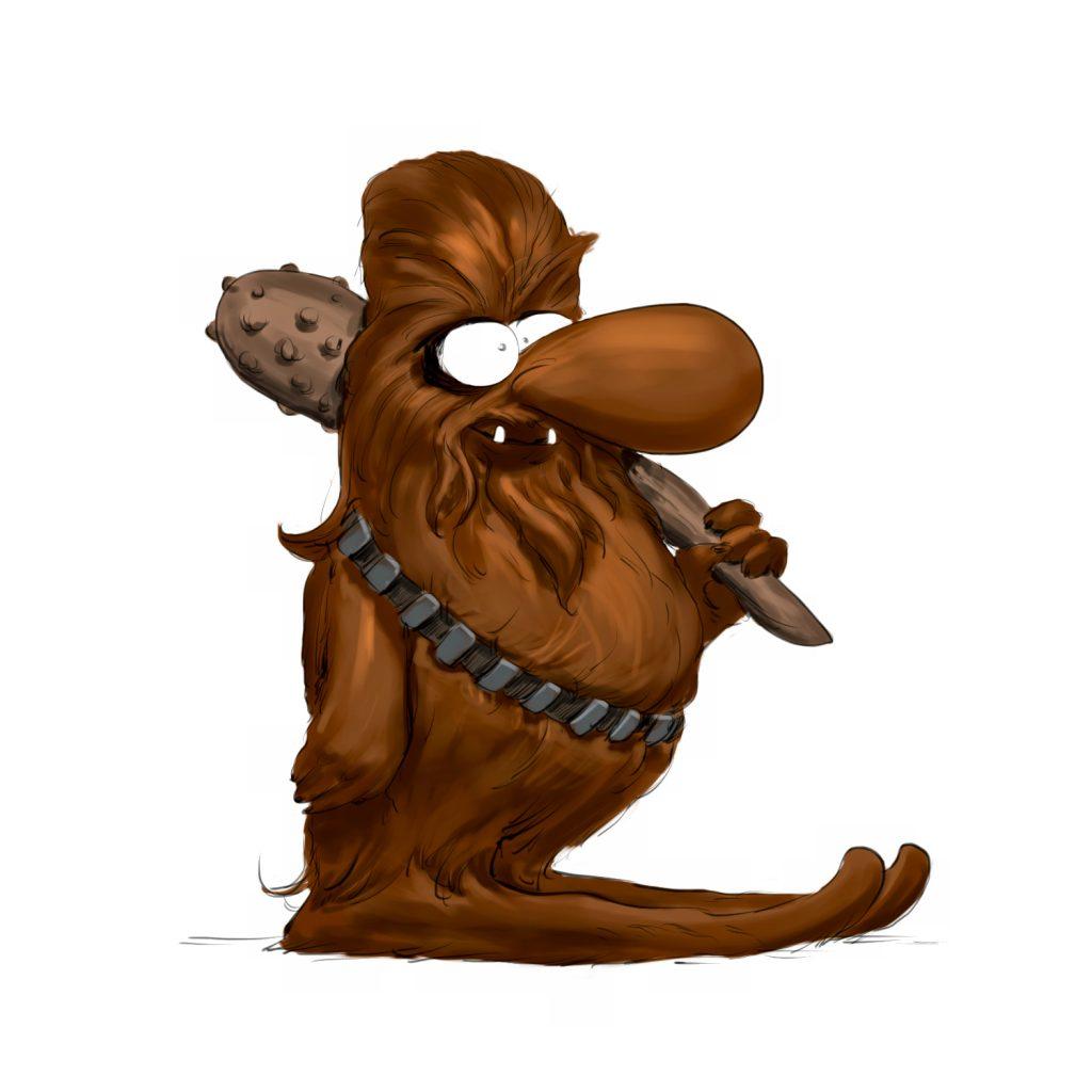 Chewbacca en mode CRO magnon