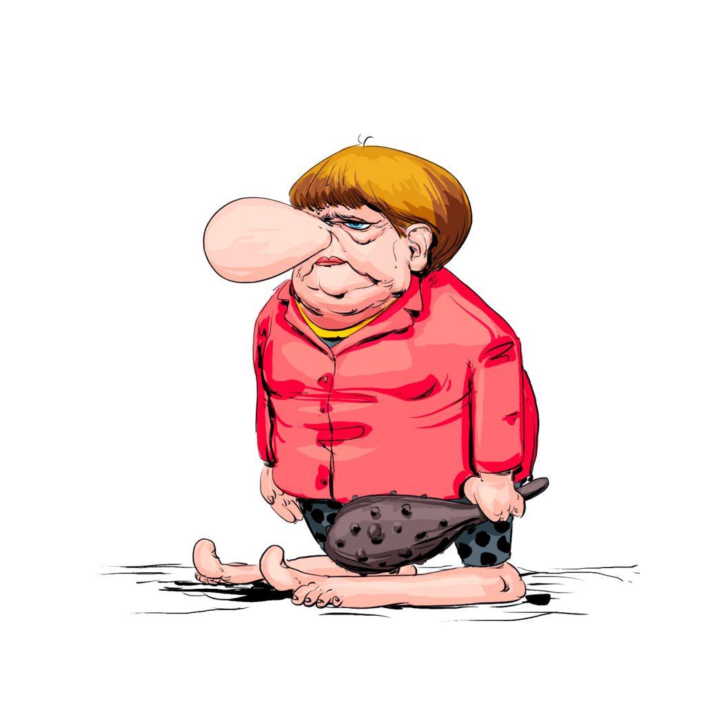 Angela Merkel en mode préhisto