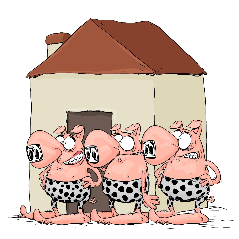 les 3 petits cochons préhistoriques