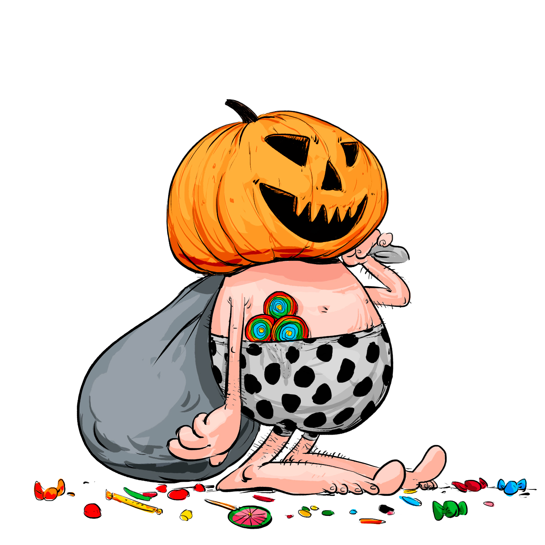 Citrouille d'Halloween préhisto