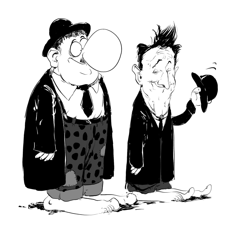 Laurel et Hardy en mode préhisto