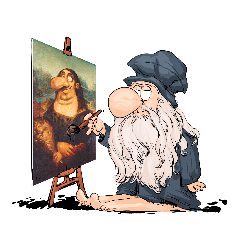 Léonardo da Vinci en mode préhisto